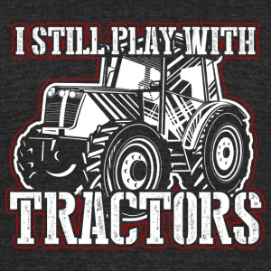 Play Tractors! Farmer! Tractor! Funny! Ranch - Unisex Tri-Blend T-Shirt by American Apparel
