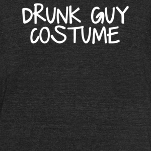 Drunk Guy Costume - Unisex Tri-Blend T-Shirt by American Apparel