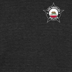 Los Angeles Police T Shirt - California flag - Unisex Tri-Blend T-Shirt by American Apparel