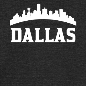 Vintage Style Skyline Of Dallas TX - Unisex Tri-Blend T-Shirt by American Apparel