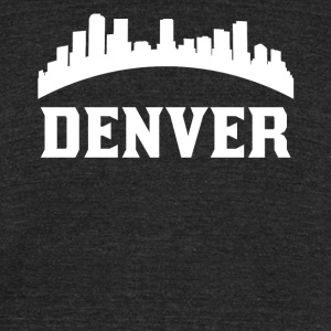 Vintage Style Skyline Of Denver CO - Unisex Tri-Blend T-Shirt by American Apparel