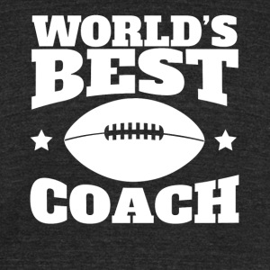 World's Best Football Coach Graphic - Unisex Tri-Blend T-Shirt by American Apparel