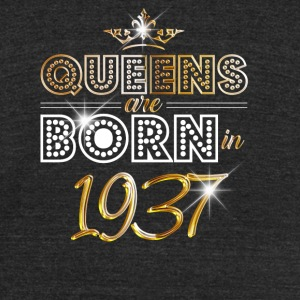 1937 - Birthday - Queen - Gold - EN - Unisex Tri-Blend T-Shirt by American Apparel