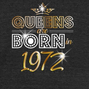 1972 - Birthday - Queen - Gold - EN - Unisex Tri-Blend T-Shirt by American Apparel