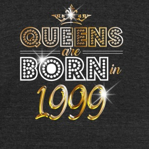 1999 - Birthday - Queen - Gold - EN - Unisex Tri-Blend T-Shirt by American Apparel