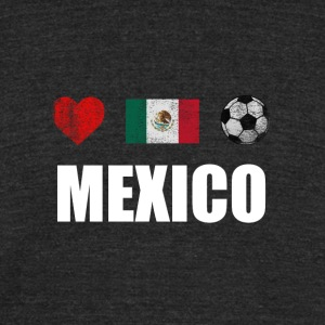 Mexico Football Mexican Soccer T-shirt - Unisex Tri-Blend T-Shirt by American Apparel
