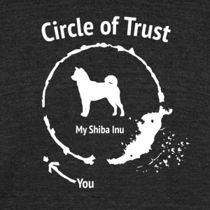 Funny Shiba Inu shirt - Circle of Trust - Unisex Tri-Blend T-Shirt by American Apparel