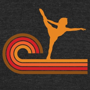 Retro Style Figure Skater Silhouette - Unisex Tri-Blend T-Shirt by American Apparel