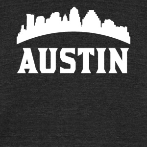 Vintage Style Skyline Of Austin TX - Unisex Tri-Blend T-Shirt by American Apparel