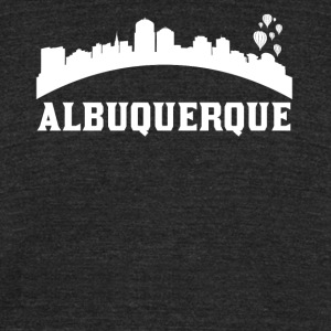 Vintage Style Skyline Of Albuquerque NM - Unisex Tri-Blend T-Shirt by American Apparel