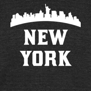 Vintage Style Skyline Of New York NY - Unisex Tri-Blend T-Shirt by American Apparel