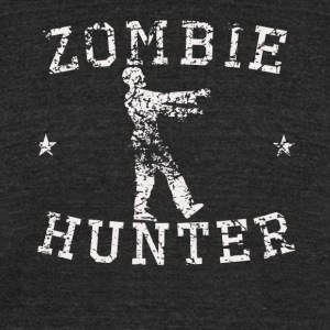 Vintage Zombie Hunter Zombie Silhouette - Unisex Tri-Blend T-Shirt by American Apparel