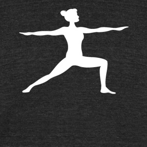 Warrior Two Yoga Pose Silhouette Yoga - Unisex Tri-Blend T-Shirt by American Apparel