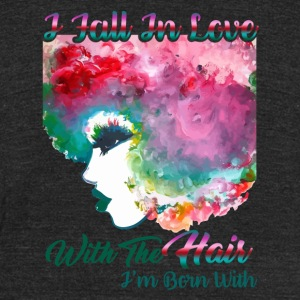 I Love My Naturally Curly Hair Tee shirt - Unisex Tri-Blend T-Shirt by American Apparel