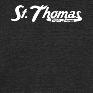St. Thomas Virgin Islands Vintage Logo - Unisex Tri-Blend T-Shirt by American Apparel