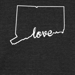 Connecticut Love State Outline - Unisex Tri-Blend T-Shirt by American Apparel