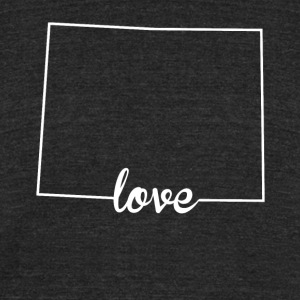 Wyoming Love State Outline - Unisex Tri-Blend T-Shirt by American Apparel