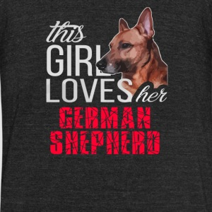 This Girl Loves Her German Shepherd - Unisex Tri-Blend T-Shirt by American Apparel