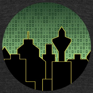 city binary sky - Unisex Tri-Blend T-Shirt by American Apparel