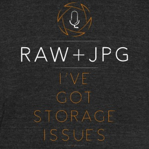 For the RAW+JPG Shooter - Unisex Tri-Blend T-Shirt by American Apparel