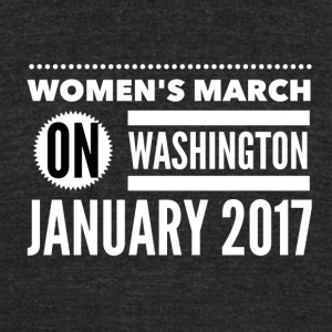 Women's March on Washington 2017 - Unisex Tri-Blend T-Shirt by American Apparel