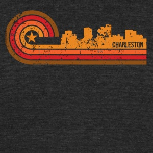 Retro Style Charleston West Virginia Skyline - Unisex Tri-Blend T-Shirt by American Apparel