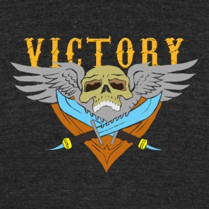 VICTORY Flying Skull - Unisex Tri-Blend T-Shirt by American Apparel