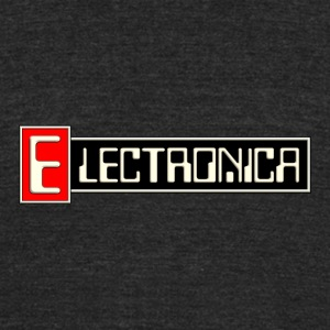 electronica - Unisex Tri-Blend T-Shirt by American Apparel