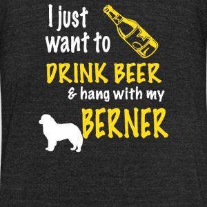 Beer and Hang With Bernese Mountain - Unisex Tri-Blend T-Shirt by American Apparel