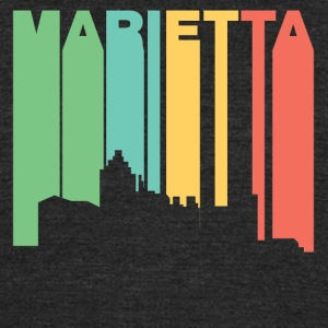 Retro 1970's Style Marietta Georgia Skyline - Unisex Tri-Blend T-Shirt by American Apparel