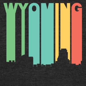Retro 1970's Style Wyoming Michigan Skyline - Unisex Tri-Blend T-Shirt by American Apparel