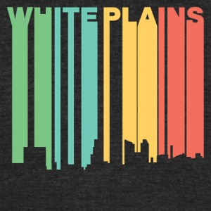 Retro 1970's Style White Plains New York Skyline - Unisex Tri-Blend T-Shirt by American Apparel
