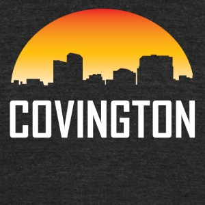 Covington Kentucky Sunset Skyline - Unisex Tri-Blend T-Shirt by American Apparel