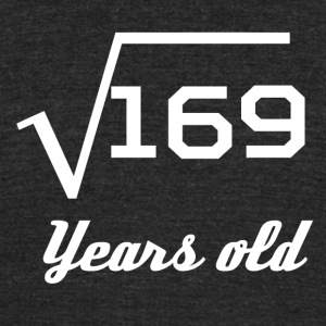 Square Root Of 169 13 Years Old - Unisex Tri-Blend T-Shirt by American Apparel