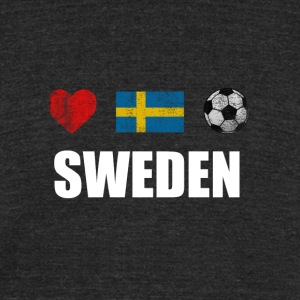 Sweden Football Swedish Soccer T-shirt - Unisex Tri-Blend T-Shirt by American Apparel