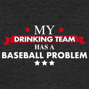 Baseball drinking team - Unisex Tri-Blend T-Shirt by American Apparel
