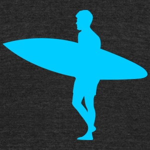 Blue Surfer - Unisex Tri-Blend T-Shirt by American Apparel
