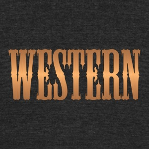 western copper - Unisex Tri-Blend T-Shirt by American Apparel