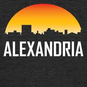 Alexandria Louisiana Sunset Skyline - Unisex Tri-Blend T-Shirt by American Apparel