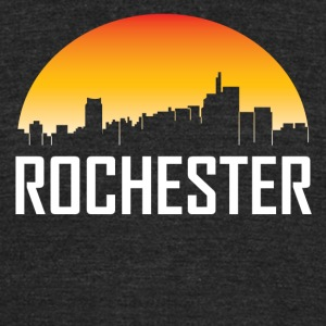 Rochester Michigan Sunset Skyline - Unisex Tri-Blend T-Shirt by American Apparel