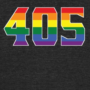 Gay Pride 405 Oklahoma City Area Code - Unisex Tri-Blend T-Shirt by American Apparel