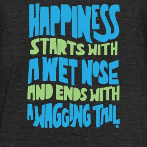 Wet Nose Wagging Tail - Unisex Tri-Blend T-Shirt by American Apparel
