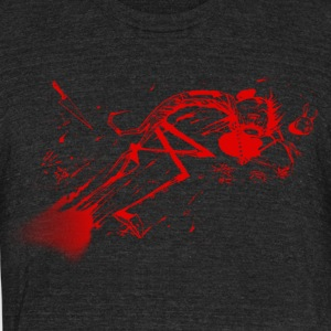 dead jthm red - Unisex Tri-Blend T-Shirt by American Apparel