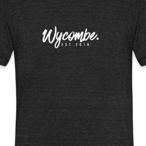 WYCOMBE Cursive Font - Unisex Tri-Blend T-Shirt by American Apparel