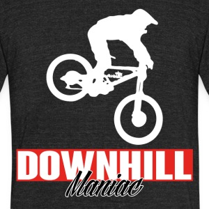 DOWNHILL MANIAC BIKE - Unisex Tri-Blend T-Shirt by American Apparel
