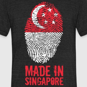 Made In Singapore / 新加坡共和国 - Unisex Tri-Blend T-Shirt by American Apparel