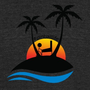Pinball Island - Unisex Tri-Blend T-Shirt by American Apparel