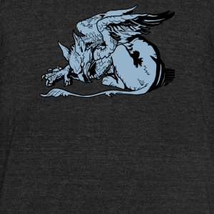 Gryphon From Alice - Unisex Tri-Blend T-Shirt by American Apparel