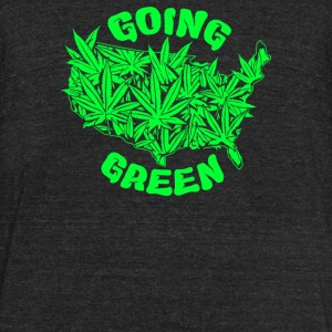 Going Green - Unisex Tri-Blend T-Shirt by American Apparel