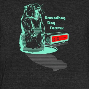 Groundhog Day Forever - Unisex Tri-Blend T-Shirt by American Apparel